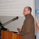 Bene Müller, Vorstand Solaxcomplex AG, hielt einen Gastvortrag zur Windkraftplanung in Geisingen, Schwarzwald.