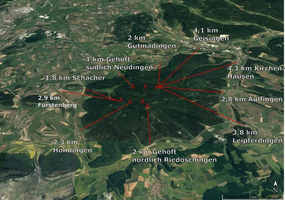 Karte-Laenge